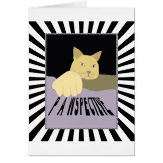 Tarjeta Arte del gato de Pawspective en perspectiva