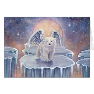 Tarjeta Arte dulce de la fantasía de la fauna del ángel de