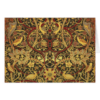 Tarjeta Arte floral de la tapicería de William Morris