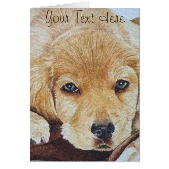 Tarjeta arte lindo del retrato del perro de perrito del