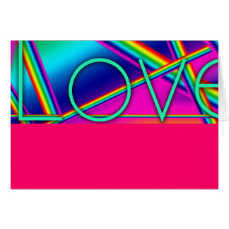 Tarjeta Arte pop del arco iris del AMOR 1