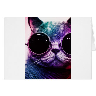 Tarjeta Arte pop del gato del inconformista