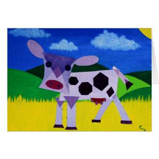 Tarjeta Arte púrpura de la vaca