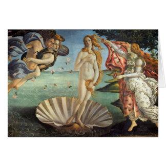 Tarjeta Arte renacentista, el nacimiento de Venus por