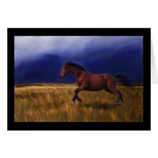 Tarjeta Arte súbito del caballo del trueno