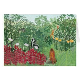 Tarjeta Arte tropical restaurado de la selva de Henri
