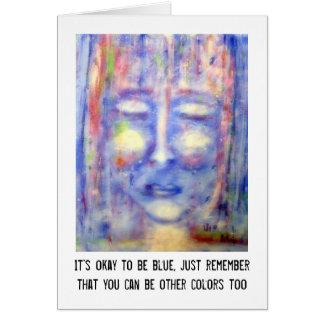 """Tarjeta Arte y cita """"azules"""""""