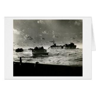 Tarjeta Asalto Iwo Jima de los infantes de marina de WWII