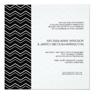 Tarjeta Asequible moderno blanco y negro intrépido de
