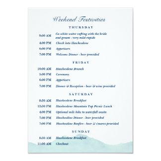 Tarjeta Ashley y horario 1 del boda de Nolan