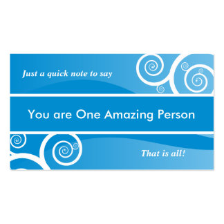 Tarjeta asombrosa de la persona anónima tarjetas de visita