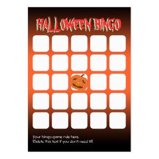 Tarjeta asustadiza del bingo del fiesta de la cala plantilla de tarjeta de negocio
