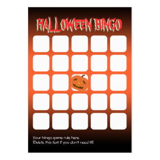 Tarjeta asustadiza del bingo del fiesta de la tarjetas de visita grandes