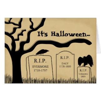 Tarjeta asustadiza divertida de Halloween