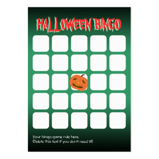 Tarjeta asustadiza linda del bingo del fiesta de l plantillas de tarjetas de visita
