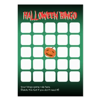 Tarjeta asustadiza linda del bingo del fiesta de tarjetas de visita grandes