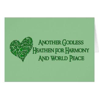 Tarjeta Ateo para la paz de mundo