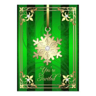 Tarjeta atractiva dorada del día de fiesta del invitación 12,7 x 17,8 cm