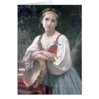 Tarjeta Au Tambour de basque de Bouguereau - de Bohemienne