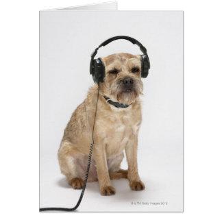 Tarjeta Auriculares que llevan del pequeño perro