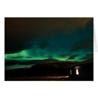 Tarjeta Aurora boreal