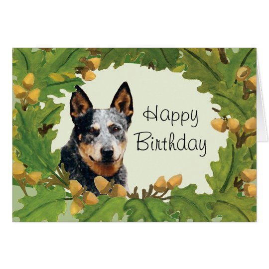 Tarjeta australiana del feliz cumpleaños del perro
