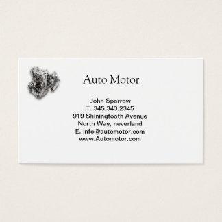 tarjeta auto del blanco del motor