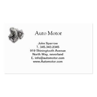 tarjeta auto del blanco del motor tarjetas de visita
