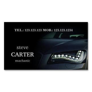 Tarjeta automotriz de la luz del negro del coche tarjetas de visita magnéticas (paquete de 25)