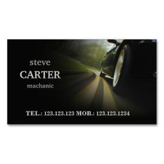 Tarjeta automotriz de la rueda del negro del coche tarjetas de visita magnéticas (paquete de 25)