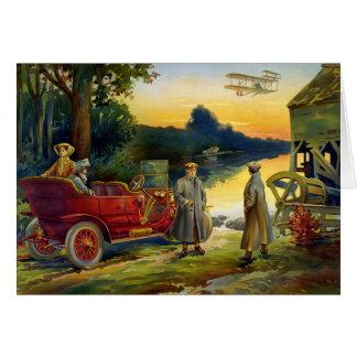 Tarjeta Automóvil 1910 del vintage del KRW