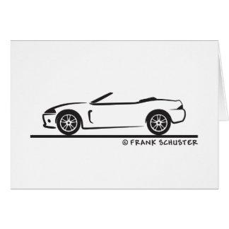 Tarjeta Automóvil descubierto de Jaguar XK