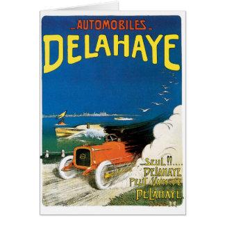 Tarjeta Automóviles de Delahaye