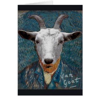 Tarjeta Autorretrato del pintor de Vincent Van Goat/Gogh