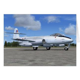Tarjeta Avión de caza a reacción del meteorito de Gloster