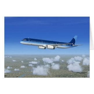Tarjeta Aviones del avión de pasajeros del jet A321