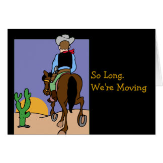 Tarjeta Aviso móvil del vaquero