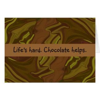 Tarjeta ayudas del chocolate