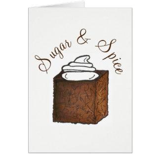 Tarjeta Azúcar y especia todo Niza torta del pan de