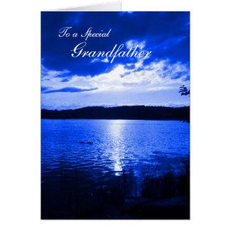 Tarjeta Azul de cielo de la puesta del sol del día de