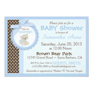 Tarjeta Azul de la fiesta de bienvenida al bebé del bebé