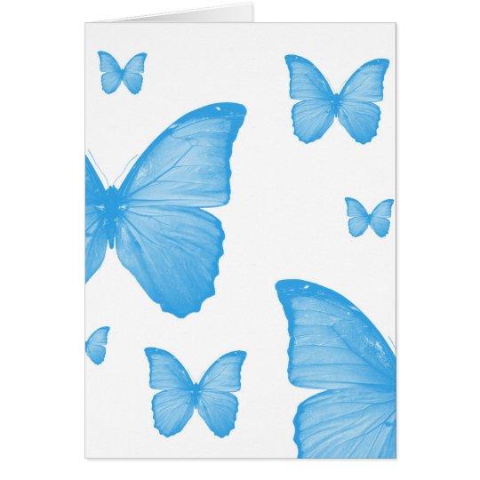Tarjeta azul de la mariposa