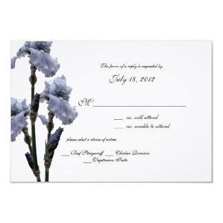 Tarjeta azul de la respuesta del iris invitación 8,9 x 12,7 cm