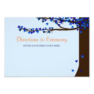 Tarjeta azul de las direcciones de los pájaros del invitación 8,9 x 12,7 cm