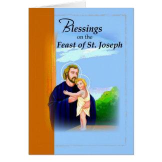 Tarjeta Azul del banquete de San José de 3820 bendiciones