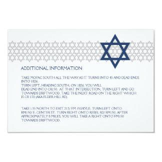 Tarjeta azul del recinto de Mitzvah de la barra