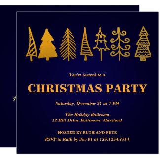 Tarjeta Azul hermoso del fiesta del árbol de navidad del