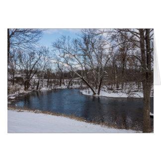 Tarjeta Azul James River del invierno