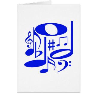 Tarjeta azul musical