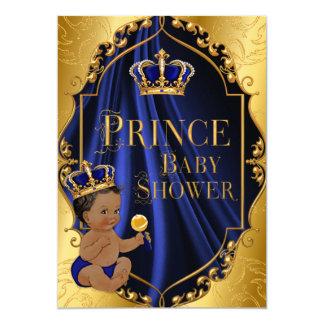 Tarjeta Azul real y príncipe afroamericano Crown del oro